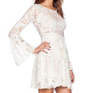• free people white longsleeve lace dress •